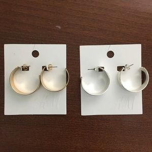 H&M set of hoops. Gold and Silver.